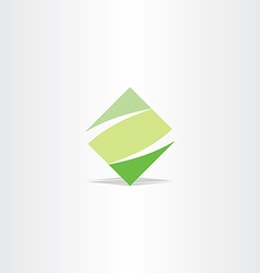 Green square logo letter z logotype z icon vector