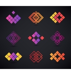 Set of abstract geometric logos vector