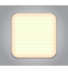 Notepad app icon vector