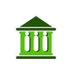 Law court bank house symbol justice finance icon vector