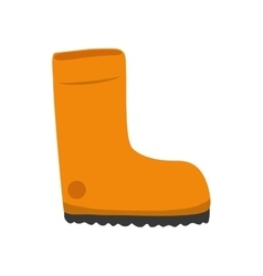 Boot shoe icon industrial security design vector