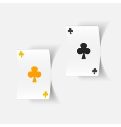 realistic design element playing card vector image