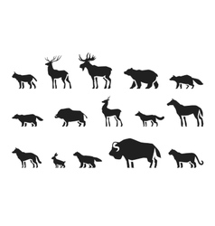 Animals icons set vector image vector image