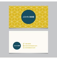 business card pattern yellow 10 vector image