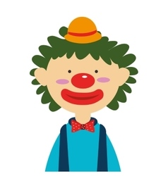 Circus funny clown cartoon design vector