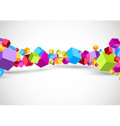 Colorful cubes 3D background vector image