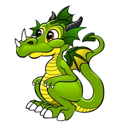Cute dragon vector