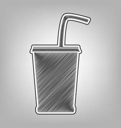 Drink sign pencil sketch vector