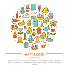 Easter with your text vector
