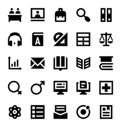 Education and school icons 7 vector