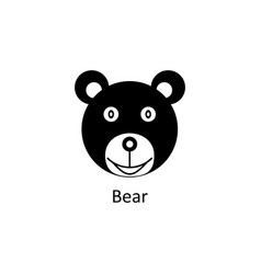 Funny bear icon silhouette icon vector