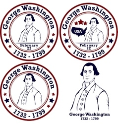 George washington stamps vector
