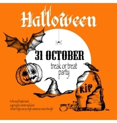 Halloween Sketch Background vector image