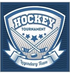 Hockey team logo template emblem logotype vector