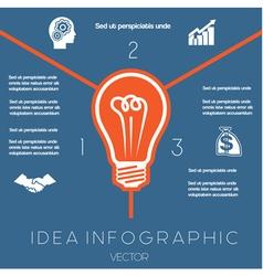 Idea business concept light bulb infographic3 vector