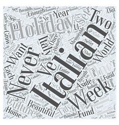 Italian holiday word cloud concept vector