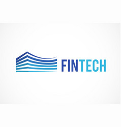 logo concept for fintech industry vector image vector image
