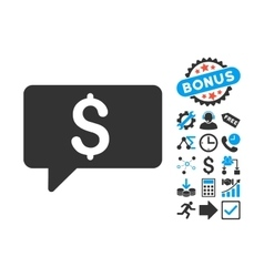 Money Message Flat Icon with Bonus vector image vector image