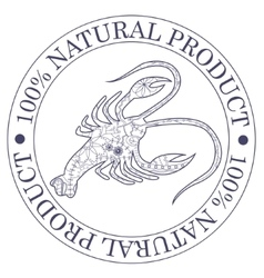 Natural product stamp with cancer vector image vector image