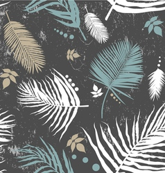 palm leaf seamless pattern vector image vector image