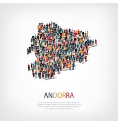 People map country andorra vector