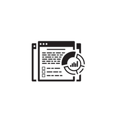 report icon flat design vector image