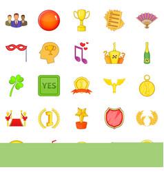 Resolution icons set cartoon style vector