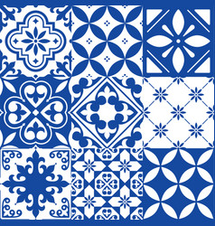 Spanish tiles moroccan tiles design seamless vector