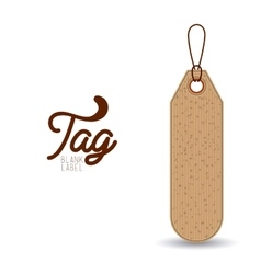 Isolated hanging tag design vector