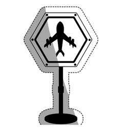 Airport road sign design vector
