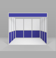 Indoor trade exhibition stand for presentation vector