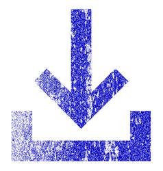 Inbox grunge textured icon vector