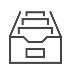 file cabinet thin line icon vector image