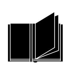 Text book open isolated icon vector