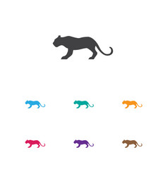 of animal symbol on tiger icon vector image