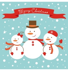Frosty family vector