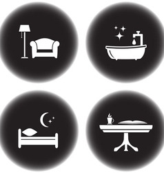 Set of icons for hotel services vector