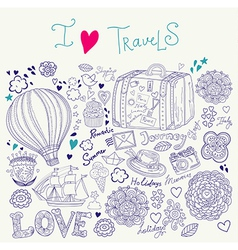 Artistic travel background vector