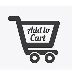 Cart shopping design vector
