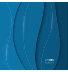 Abstract background of blue paper strips and vector