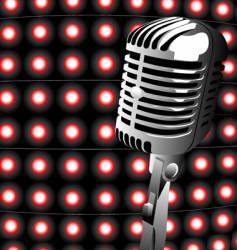 music mic vector image