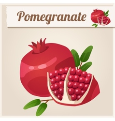 Detailed icon pomegranate vector