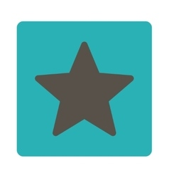 Star icon from award buttons overcolor set vector