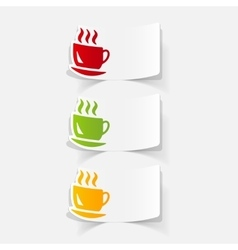 Realistic design element coffee vector