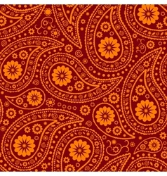 Seamless paisley background elegant hand drawn vector