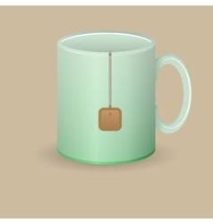Green tea mug vector