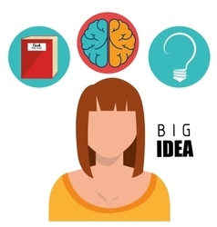 Human brain creative ideas vector