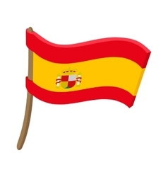 Flag of spain icon cartoon style vector