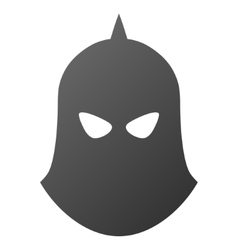 Knight helmet gradient icon vector