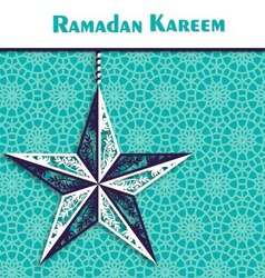 Ramadan background with ornamental star vector